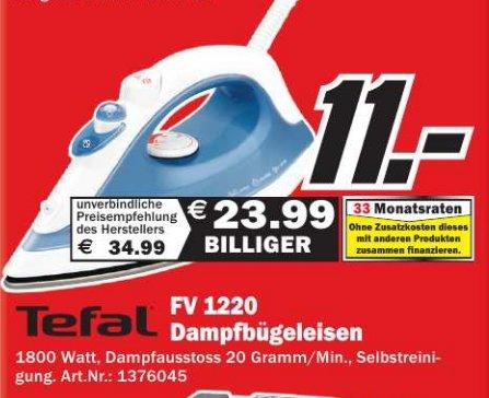 [ MM  Bayreuth ]  Tefal FV 1220 Dampfbügeleisen  11€