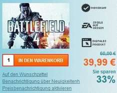 Battlefield 4 EA Origin Key für 39.99