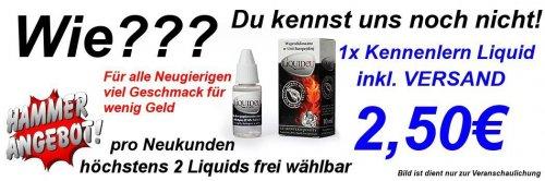 Liquids für E-Zigaretten 2.50 Eur
