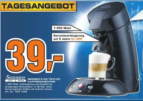 Philips Senseo 2 HD 7810 60 Kaffemaschine 1450 Watt im Saturn Lünen, Dortmund und Soest