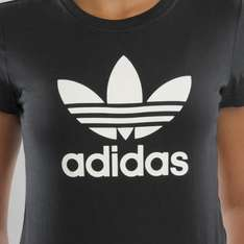 (KICKZ) Adidas Damen T-Shirt dunkelgrau klassisch nur 9,90 € (Versandkostenfrei)
