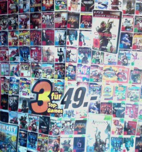 MEDIA MARKT 3 Spiele (PC PS3 XBOX Wii) für 49,- ab 31.07.2013