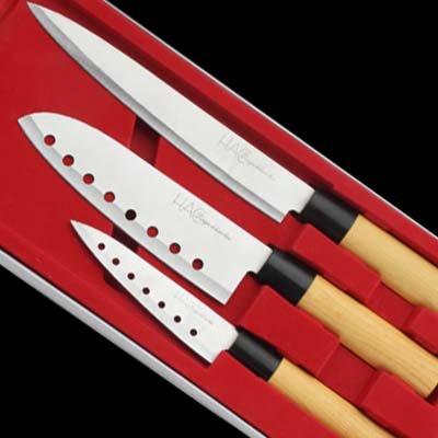 3tlg. Edelstahl Design Messerset ASIA für 9,99€ frei Haus @ebay