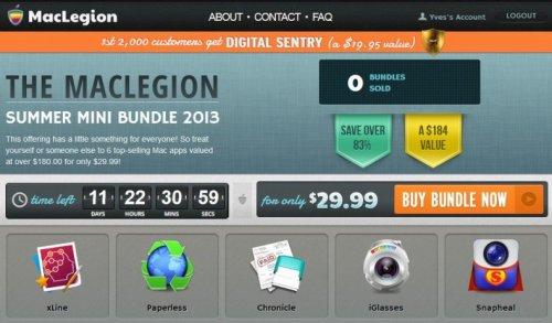 (MAC) MacLegion Summer Mini Bundle mit bis zu 6 Apps für 29,99$ bzw. 22,61€