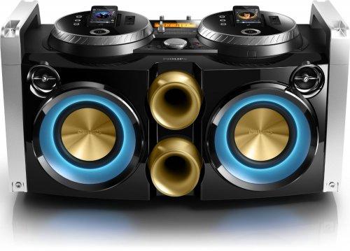 Philips FWP3200D/12 Docking-Partymaschine für iPhone/iPod mit 2-Wege und Bassreflex (300 W, USB-Host, MP3-Link) schwarz für 164€ @Groupsales