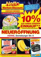 [Lokal Herne] 10 % auf den gesamten Einkauf bei Netto (ohne Hund), auch z.B. 1 Kasten Falkenfelser Pils (20 x 0,5 l) für 4,00 €