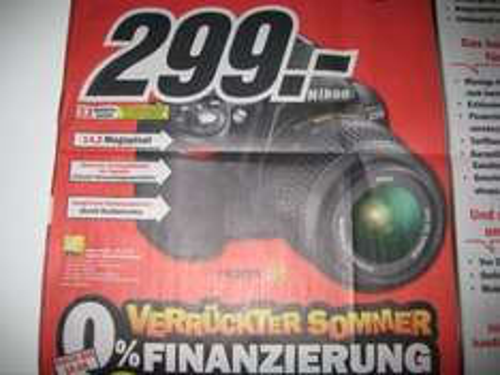 Nikon D3100 18-55mm VR Kit bei Media Markt für 299.- aktueller Prospekt