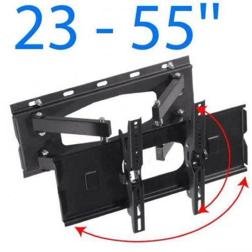 LCD Plasma TV Wandhalterung neigbar schwenkbar DOPPELARM bis 65Kg 23-55'' @eBay