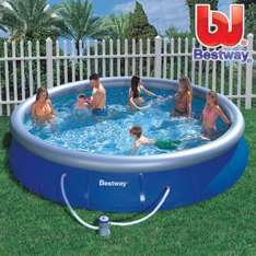 Intex Alias Bestway { Bestway Fast Set Pool, Familienpool, Quick-Up Schwimmbecken (457 x 91cm) für 124,95€ inkl. VSK @ebay }