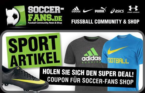 19,99 Euro statt 50 Euro: Wertgutschein für den Soccer-Fans Sportshop @qypedeals