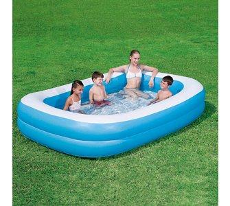 Bestway Family Pool 269 cm, inklusive Abdeckplane UVP: 52,99€ Platz 1 bei billiger.de