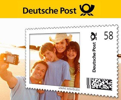 Deutschen Post: 10 € sparen für Deine individuellen Briefmarken