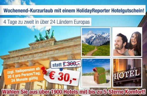 4 Tage Hotelunterkunft für 30 Euro