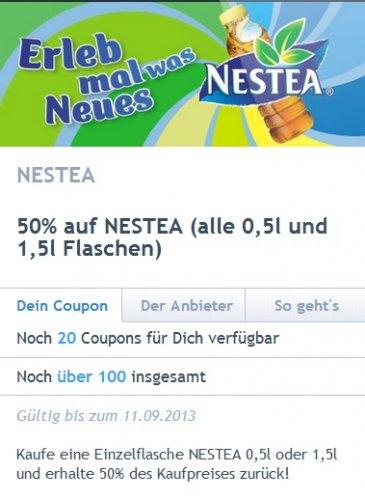 (Real )1,5 Liter Nestea für 99 Cent - 50 Cent Coupies Cashback