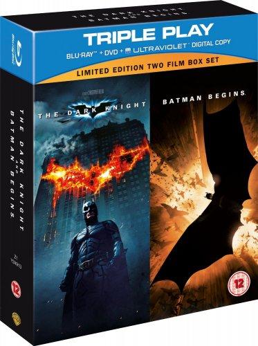 Dark Knight and Batman Begins (Blu-ray + DVD + Ultraviolet) für 8,59 € @ WOWHD