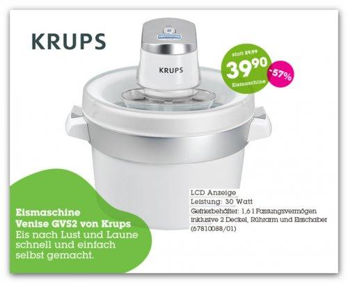 Krups Eismaschine für 39,90 Euro bei Mömax