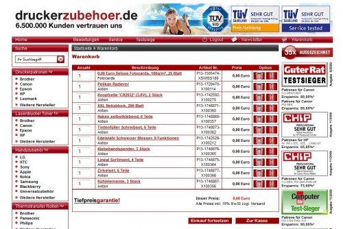 Druckerzubehör 33 Geschenke für nur 5,97 Euro