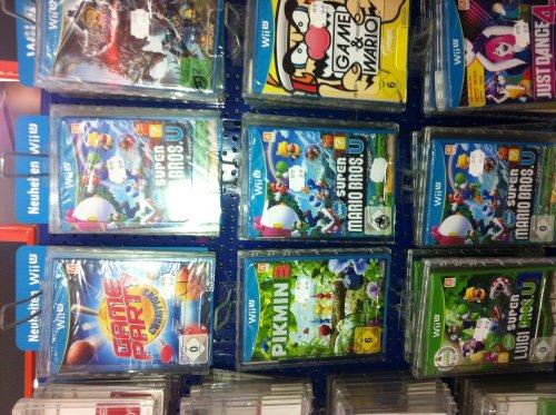 Wii U Spiele in Saturn Hannover (z.B. Super Mario Bros. U für 30 Euro)