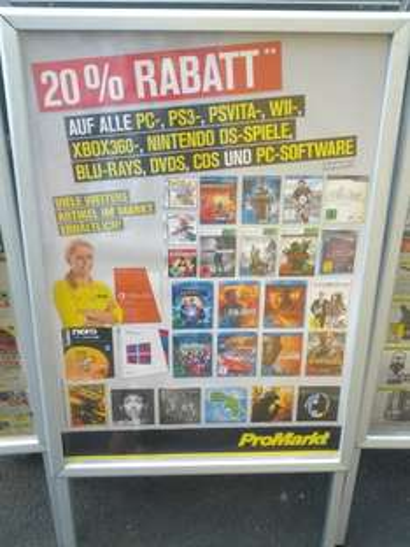 [ProMarkt Filialen] 20 Prozent Rabatt auf Spiele, Filme und Software *UPDATE *PS+