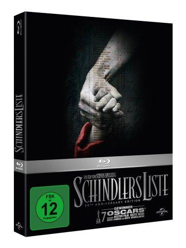 Schindlers Liste - 20th Anniversary Edition [Blu-ray] [Limited Edition] für 13,99 € [Amazon.de]