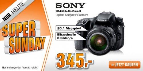 [Saturn Super Sunday] SONY SLT-A58K+18-55mm ab 345€