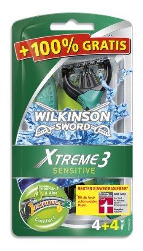 [Penny] Wilkinson XTreme 3 Sensitive 4+4 Einwegrasierer für 4,44€