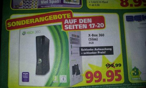 [LOKAL MARKTKAUF STUHR BREMEN] Xbox 360 Konsole Slim 4GB für 99,95€ & 320gb HDD inkl. Spiele für 59,99€ bei Saturn.de/redcoon.de