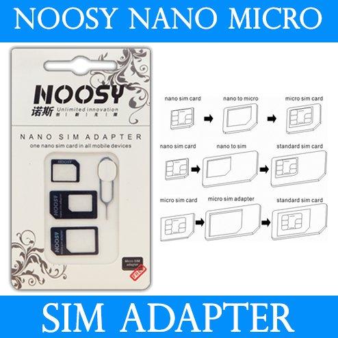 NOOSY Micro Sim Adapter 4in1 für nur 1 EUR inkl. Versand