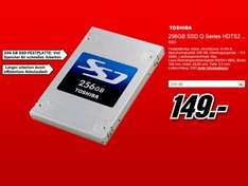 [Mediamarkt]Toshiba SSD Q serie 256 GB 2,5 Zoll Festplatte