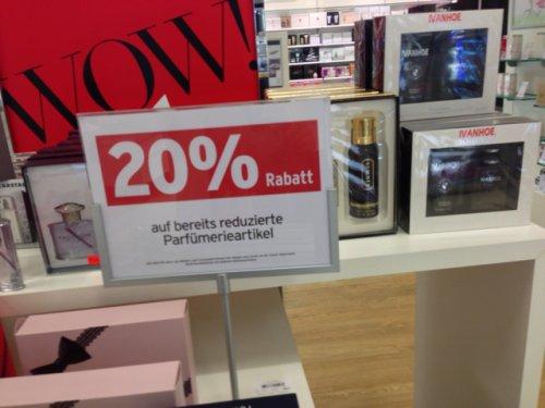 20 % bei Karstadt auf alle reduzierten Parfümartikel