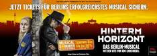 Berlin - Musical Hinterm Horizont (Udo Lindenberg) 30% Rabatt