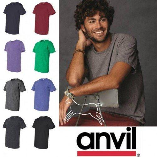 Original Anvil Männer Basic T-Shirts in verschiedenen Grössen und Farben