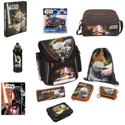 16tlg. Star Wars Schulranzen Set (mit Schulranzen, Sporttasche, Federtasche, Geldbörse usw.) für nur 16,90 EUR inkl. Versand