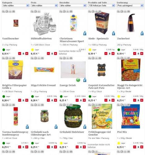 Neue Abverkaufsartikel bei lebensmittel.de (u.a. Haribo, Steaksaucen, Wein, etc.)