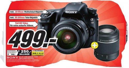 Sony SLT-A 58 Y + SAL 18-55mm + 55-200mm[MediaMarkt in Porta Westfalica]
