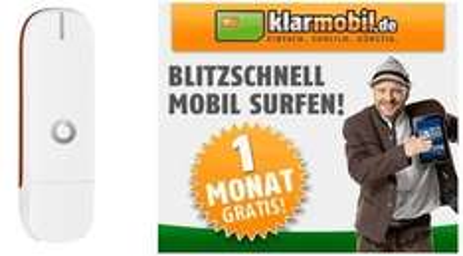 Vodafone UMTS Surfstick (K3772-HV) +1 Monat Internet Flat[Klarmobil] für 9,95€ @Ebay Obocom