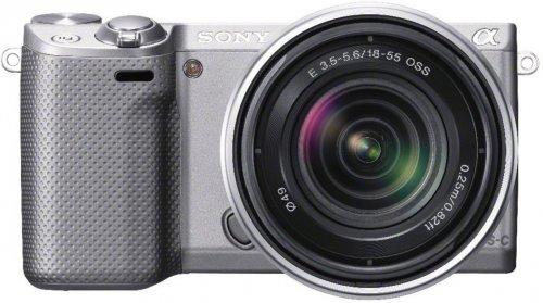 Sony NEX-5RKS Silber, Digitalkamera mit 18-55 mm Objektiv ohne Vsk für 429 € [Ebay.de]