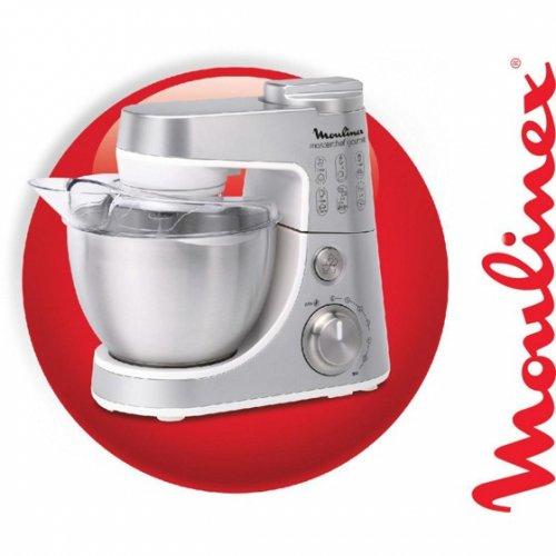 Moulinex Küchenmaschine Gourmet Plus in Silber @moemax.de