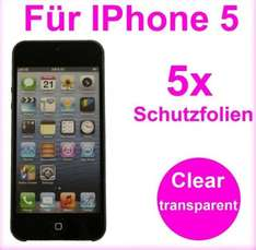 5 x Schutzfolie Vorderseite iPhone 5 ,  5X Schutzfolien für Samsung S4 , 5X Schutzfolien für Samsung S3@ebay  je 1€