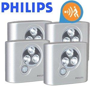 Viererpack Philips SpotOn Leuchten mit Bewegungsmelder für 19,95€ + 5,95€ Versand @iBOOD