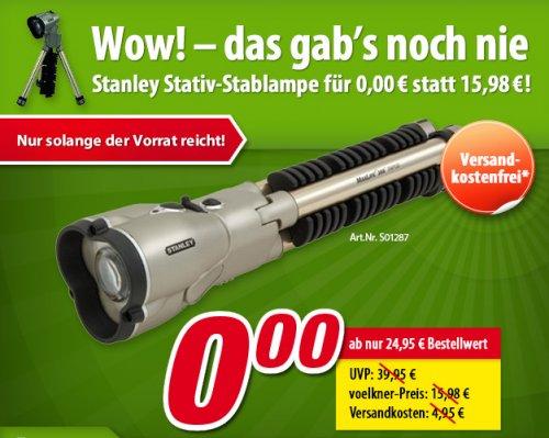 Gratis: Stanley Max Life Stablampe bei voelkner 0.00 ab 24,95 € MBW (preis vorher 15,98 €)