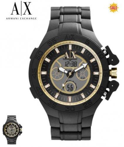Armani Exchange Gents Active Black Bracelet Chronograph