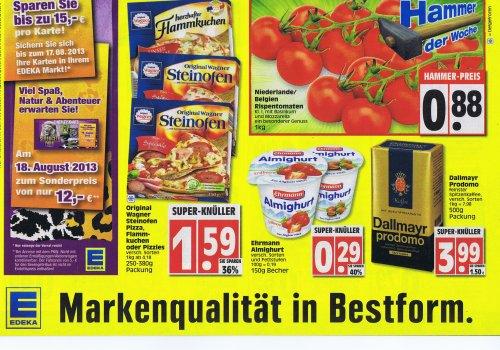 [ EDEKA Minden Hannover ] Wagner Steinofenpizza, Pizzies oder Flammkuchen 1,59€