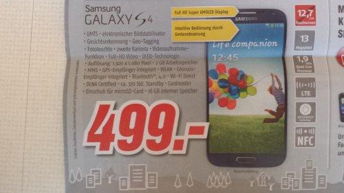 Offline? Samsung Galaxy S4 bei Medimax Hannover für 499€!