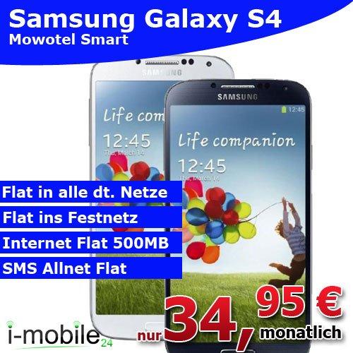 Allnet Flat (MoWoTel) inkl. Samsung Galaxy S4 für unter 16€mtl.
