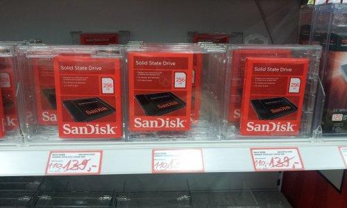 [MediaMarkt / 89077 Ulm] SanDisk SSD 256GB für 110€ / Idealo vgl. Preis 127€