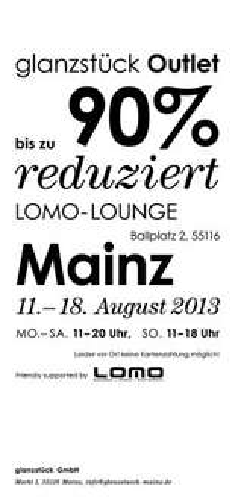 Outlet-Verkauf glanzstück Mainz