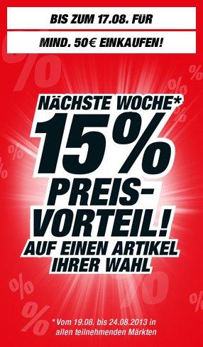 """[toom Baumarkt] Ab 50€: beim nächsten Einkauf 15% auf einen Artikel + ggf. """"Energiesparleiste"""" gratis"""