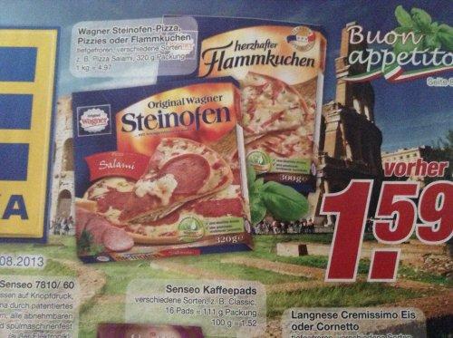 Pizzapreisschlacht: Wagner Steinofen Pizza zum Knallerpreis von nur 1,59 Euro @ EDEKA