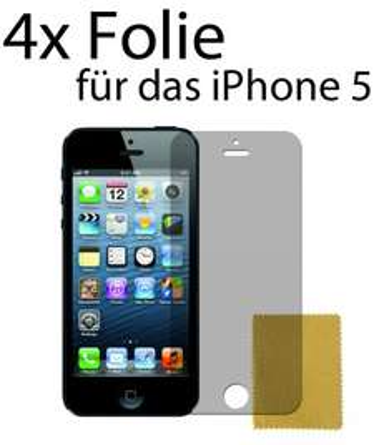 4 x iPhone 5 Schutzfolie Kratzfest und Glatt! Folie Guard Displayfolie Display @ebay 1€